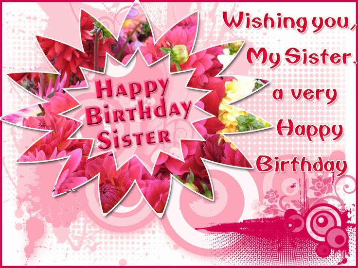 Happy birthday sister messaging fun happy birthday sister m4hsunfo Images